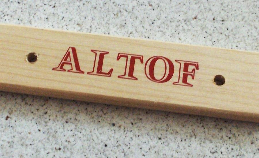 LEGNO Inserto in legno con serigrafia monocolore