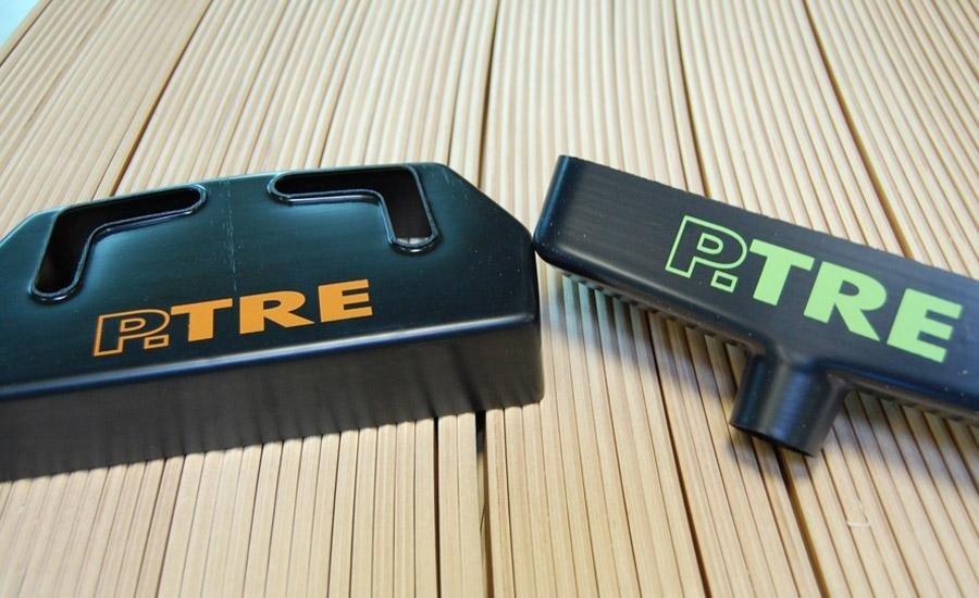 PLASTICHE Stampa serigrafica monocolore su particolari termoformati