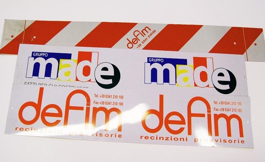 TARGHETTE Lamierino stampa serigrafica monocolore e multicolore