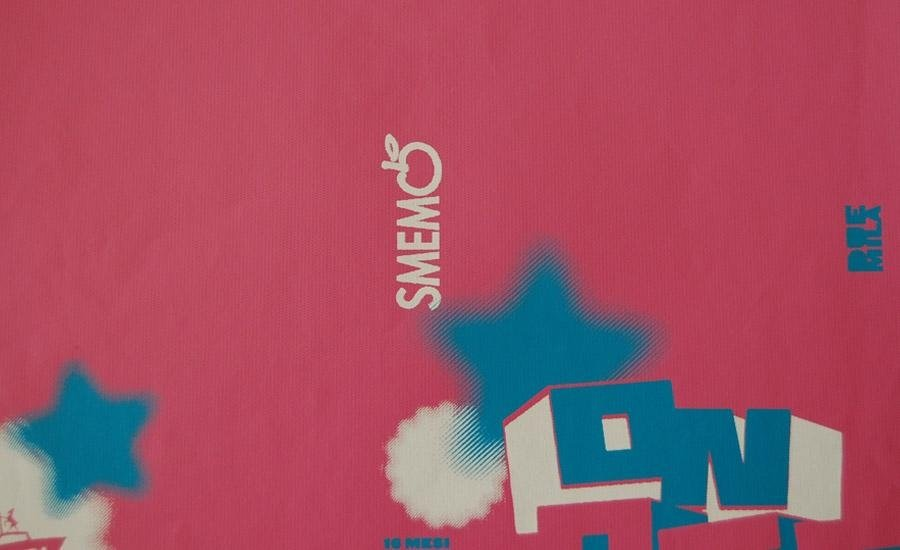 PELLE E SIMILARI Stampa serigrafica UV 2 colori su finta pelle rosa