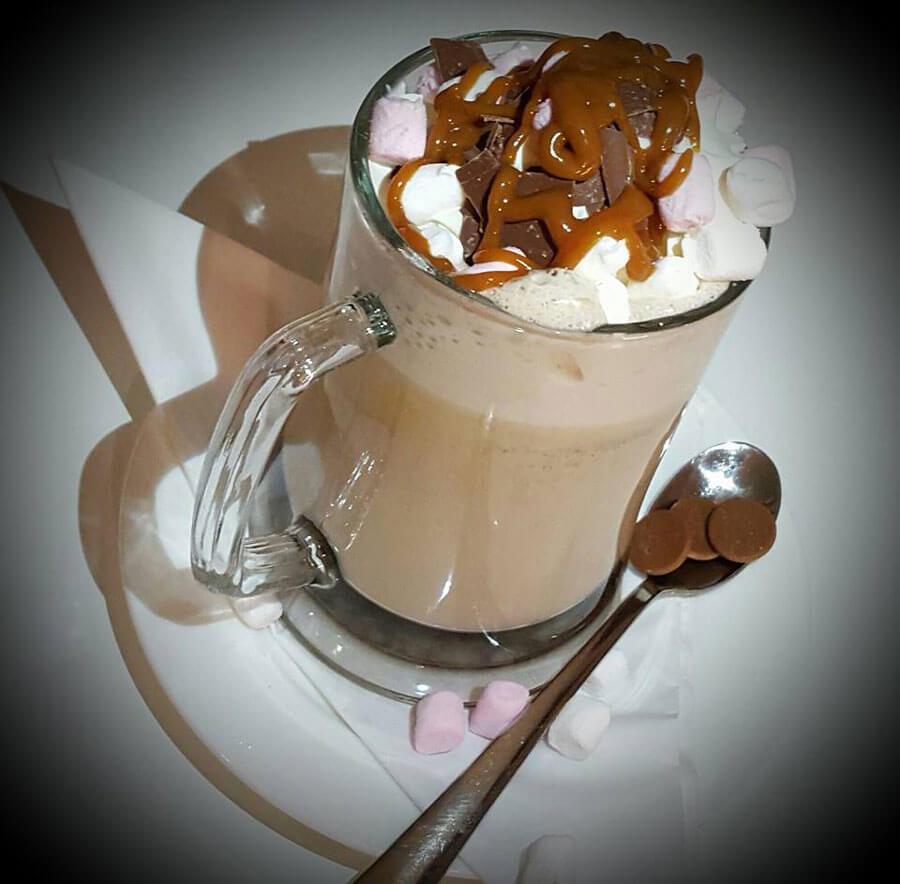 hot chocolate float