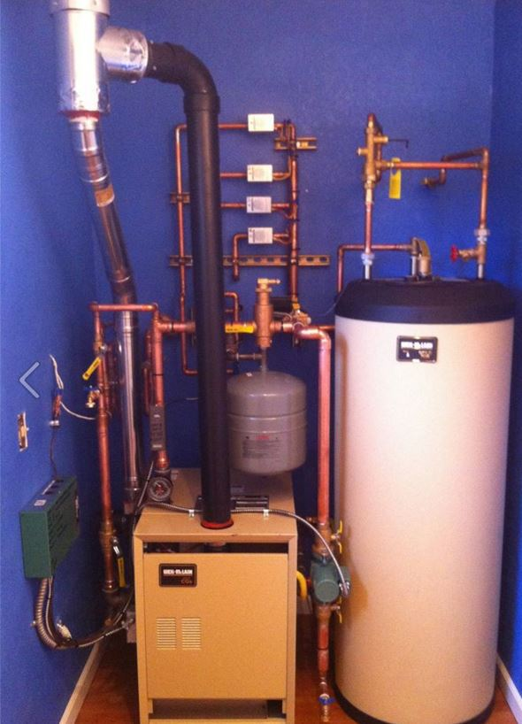 Heating system after repair in Eagle River, AK
