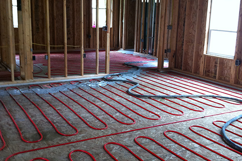 Radiant heating system installed by experts in Eagle River, AK