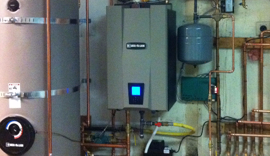 Functional system after the boiler repaired in Eagle River, AK