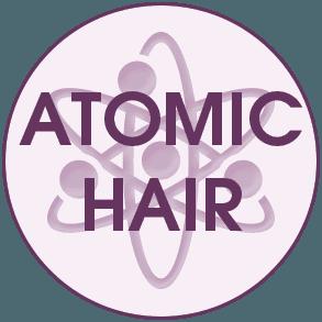 Atomic hair logo