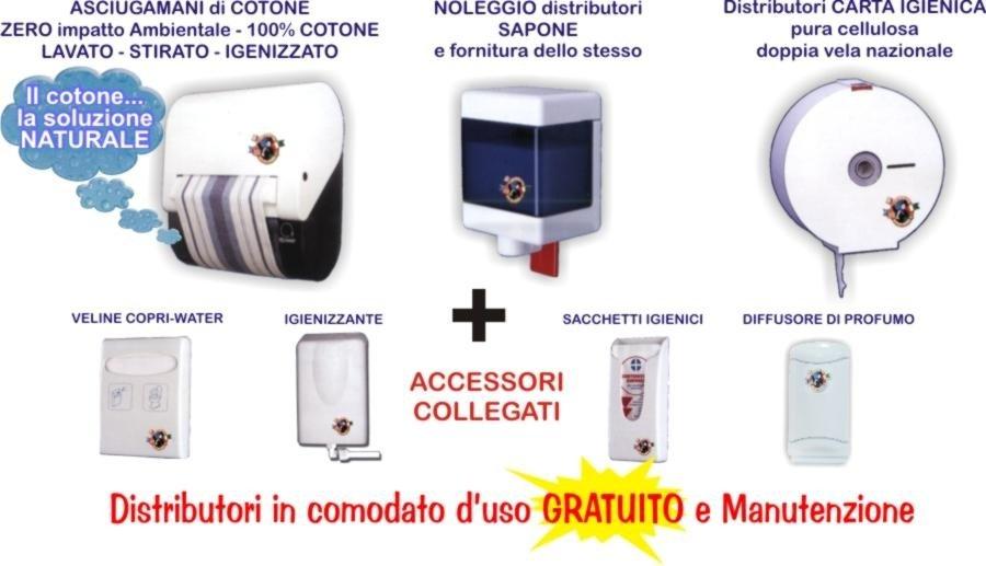 dispenser asciugami cotone