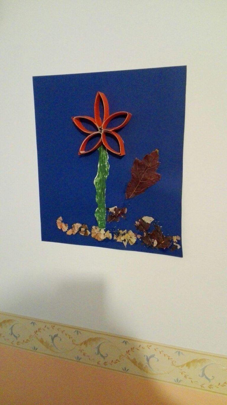 quadro fatto a mano raffigurante un fiore rosso