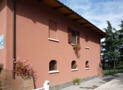 facciata esterna di una villa