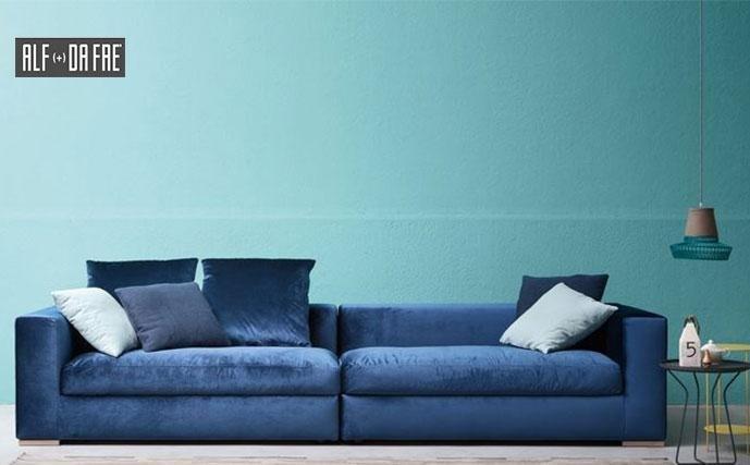 divano blu ALF + DA FRE'