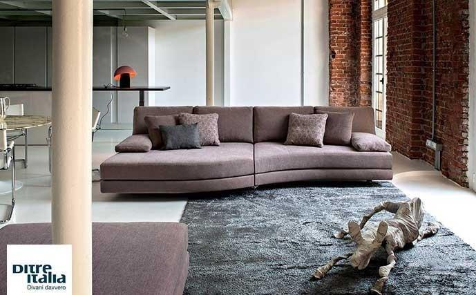 divano rosa della linea DITRE ITALIA