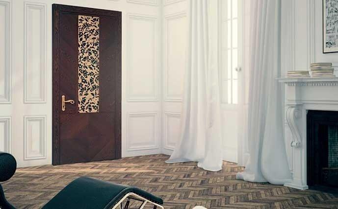 porta in legno pregiato