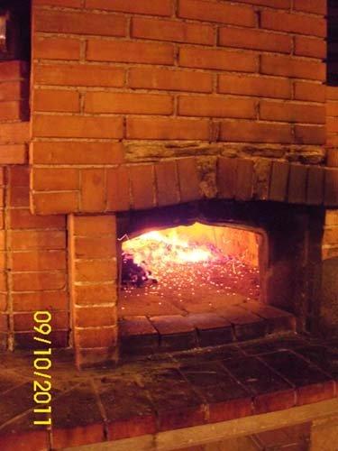 Forno a legna al Ristorante La Boscaglia a Roma
