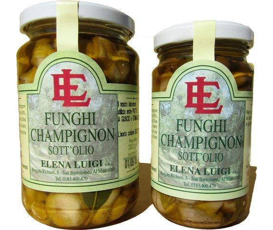 Funghi champignon, antipasto, sottolio, elena luigi,