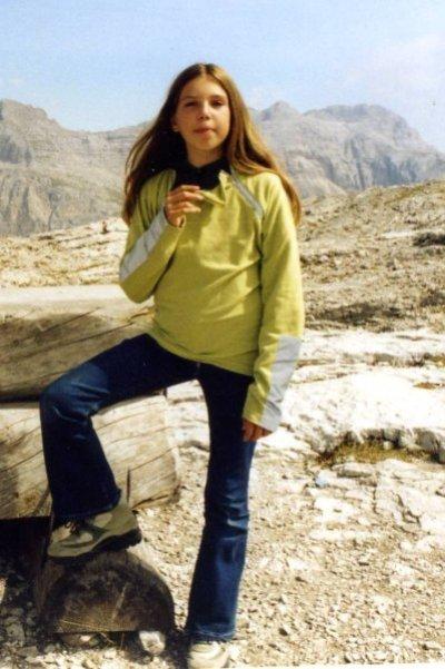 Federica nel 2003 prima della malattia