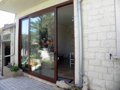 porta di vetro scorrevole