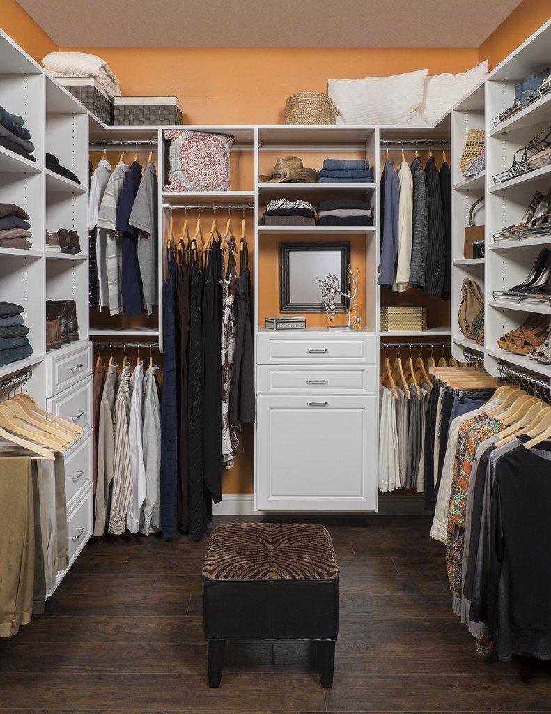 Ordinaire White Finish Custom Walk In Closet