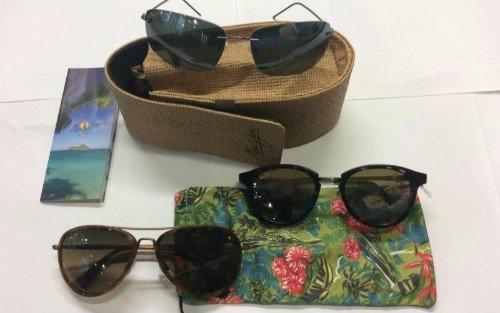 Tre modelli di occhiali da sole
