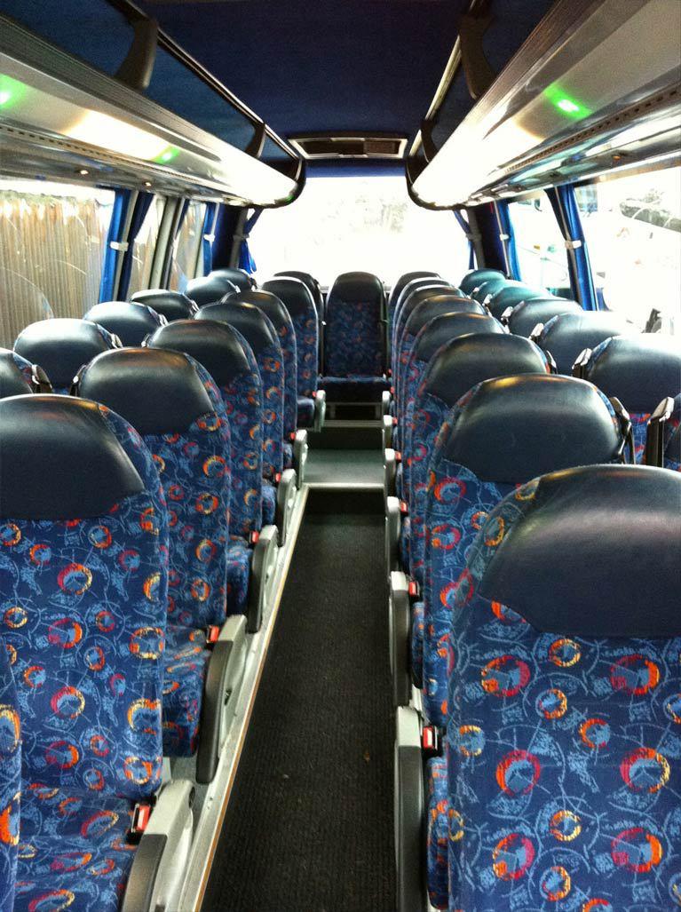 inside our minibus