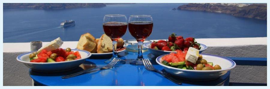 village square greek traven greek with wine
