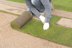 Laying turf - Leeds, West Yorkshire - G Lyell - Turf