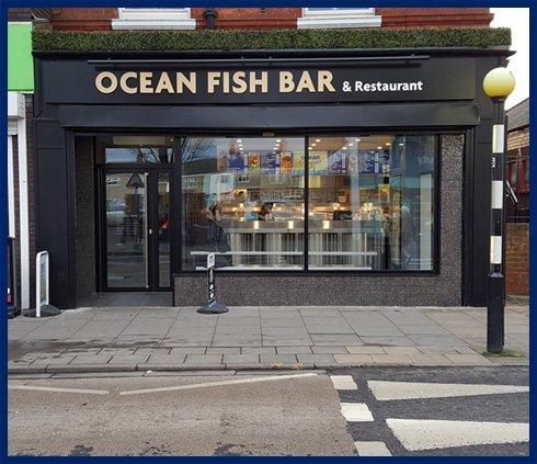 Shop of Ocean Fish Bar - Cleethorpes, North East Lincolnshire - Ocean Fish Bar