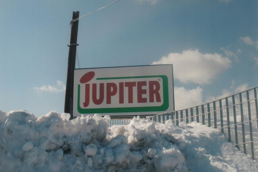 Jupiter in the snow