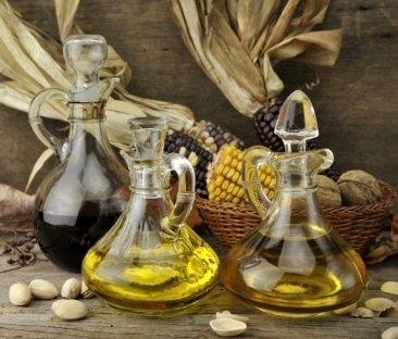 olio di mais grezzo, pannocchie, olii