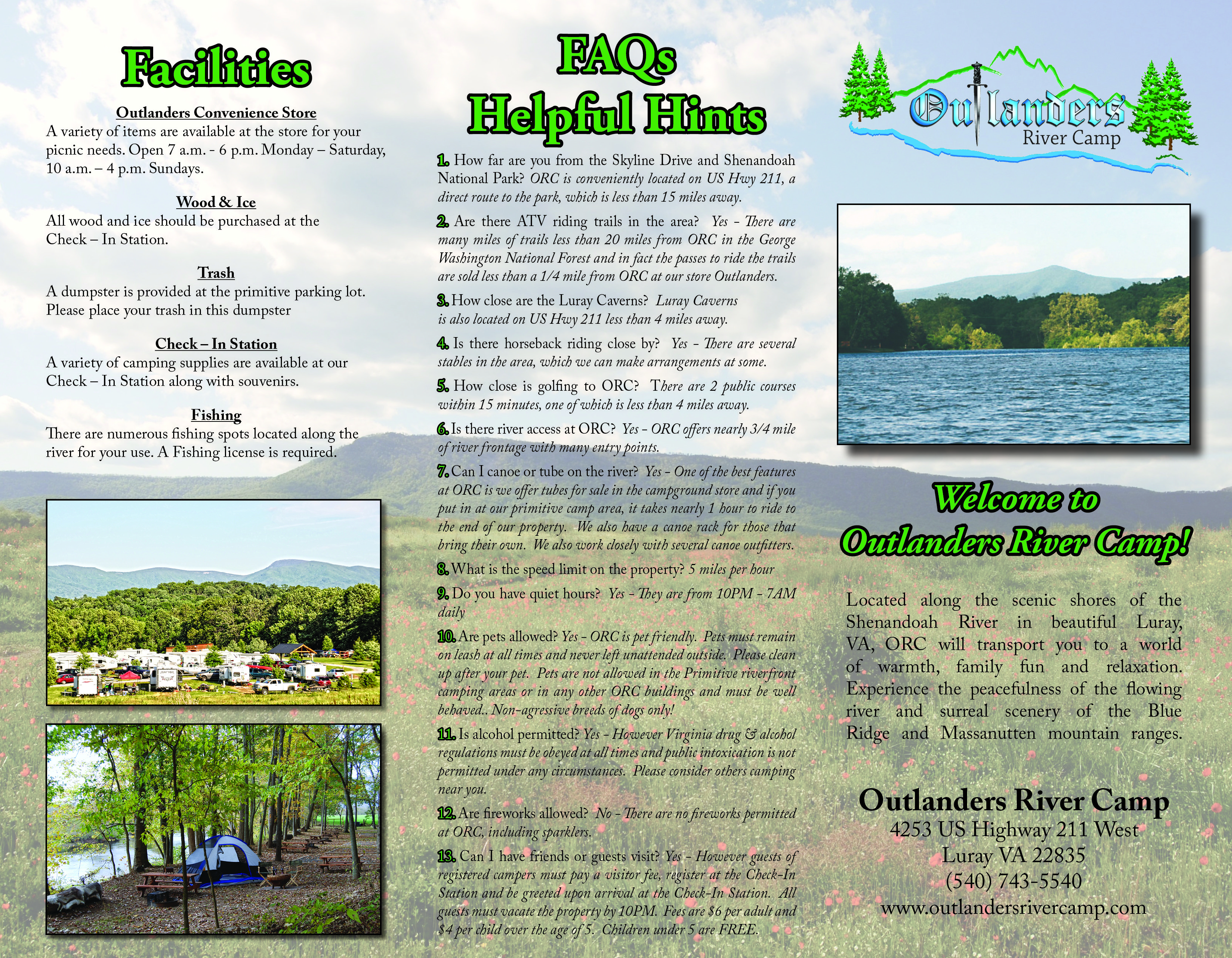 Outlanders River Camp Brochure