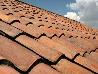 close up of pantiled roof