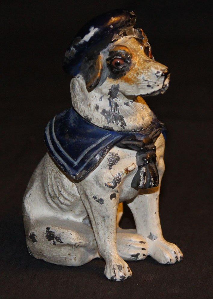 galerie-bosetti-antiquites encrier chien profil droit