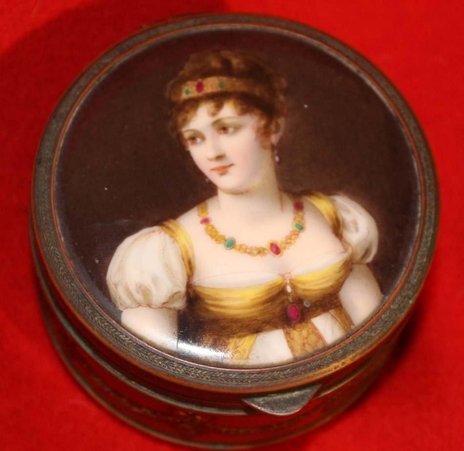 galerie-bosetti-antiquites boite portrait miniature, détail portrait
