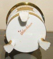 bosetti antiquité - porcelaine avec trace blanche de kaolin