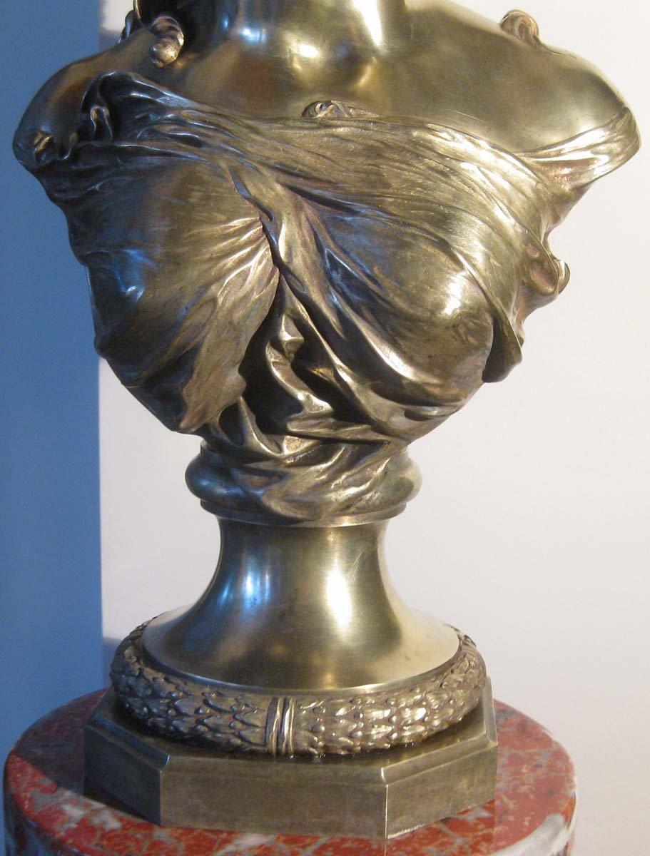 galerie-bosetti-antiquites sculpture bronze P.L.DETRIER, buste