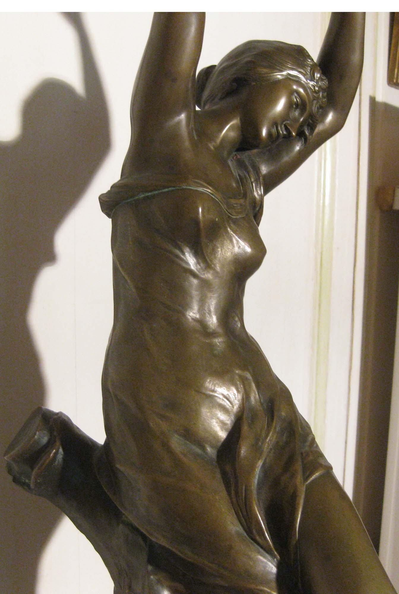 galerie-bosetti-antiquites, sculpture bronze L. MADRASSI , corps de la femme