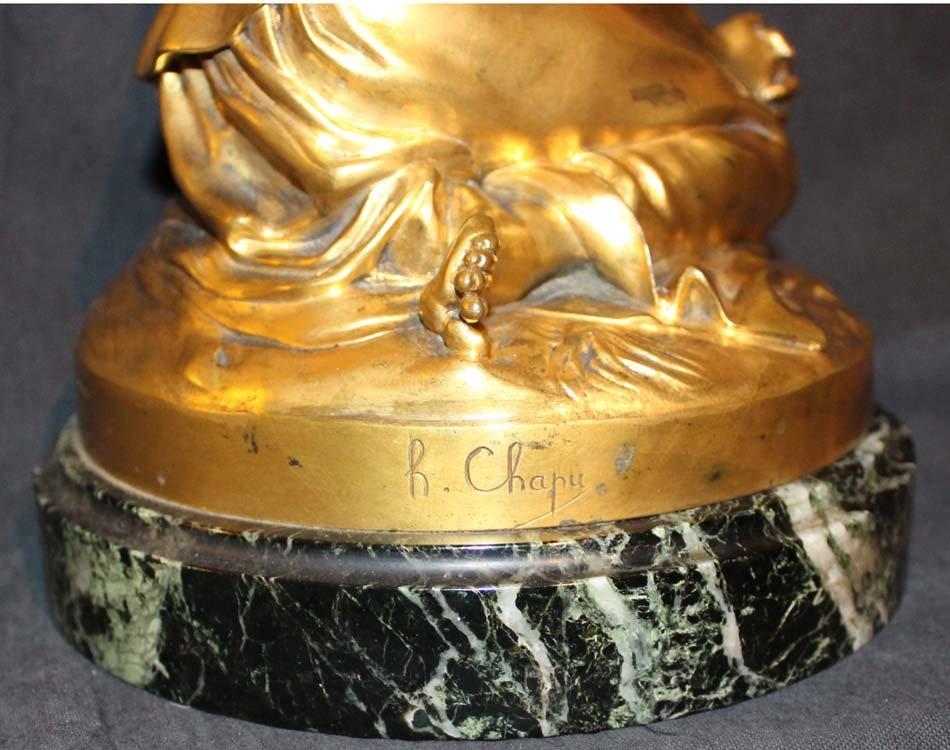 galerie-bosetti-antiquites sculpture Jeanne d'Arc, marque CHAPU