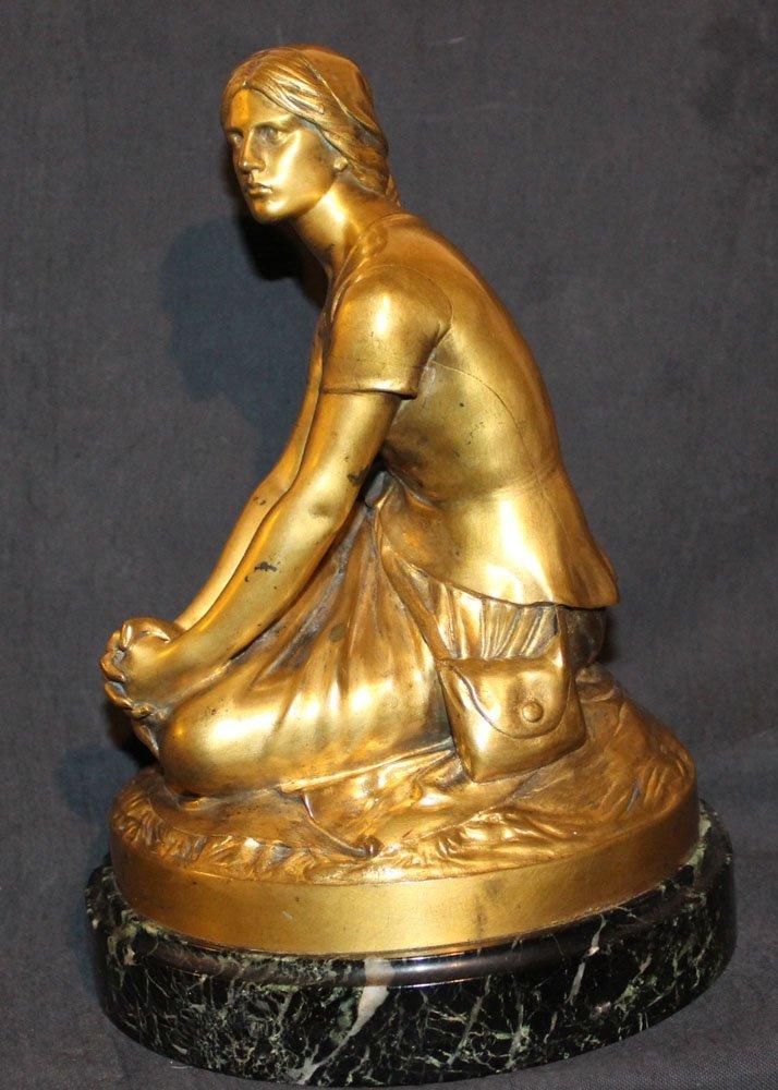 galerie-bosetti-antiquites sculpture Jeanne d'Arc, profil gauche