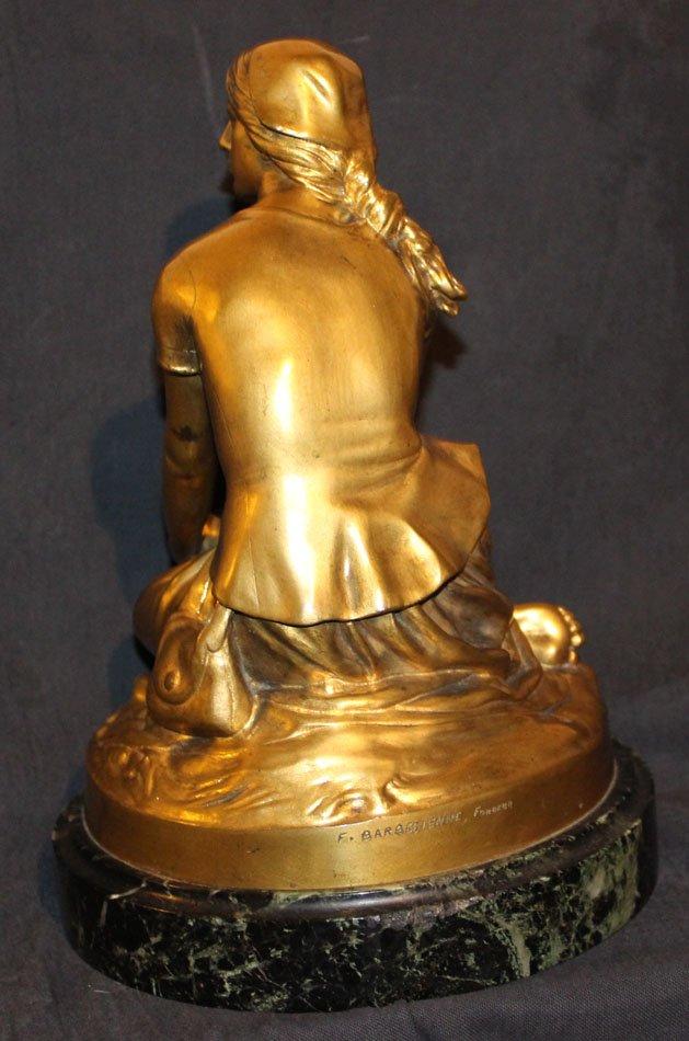 galerie-bosetti-antiquites sculpture Jeanne d'Arc dos