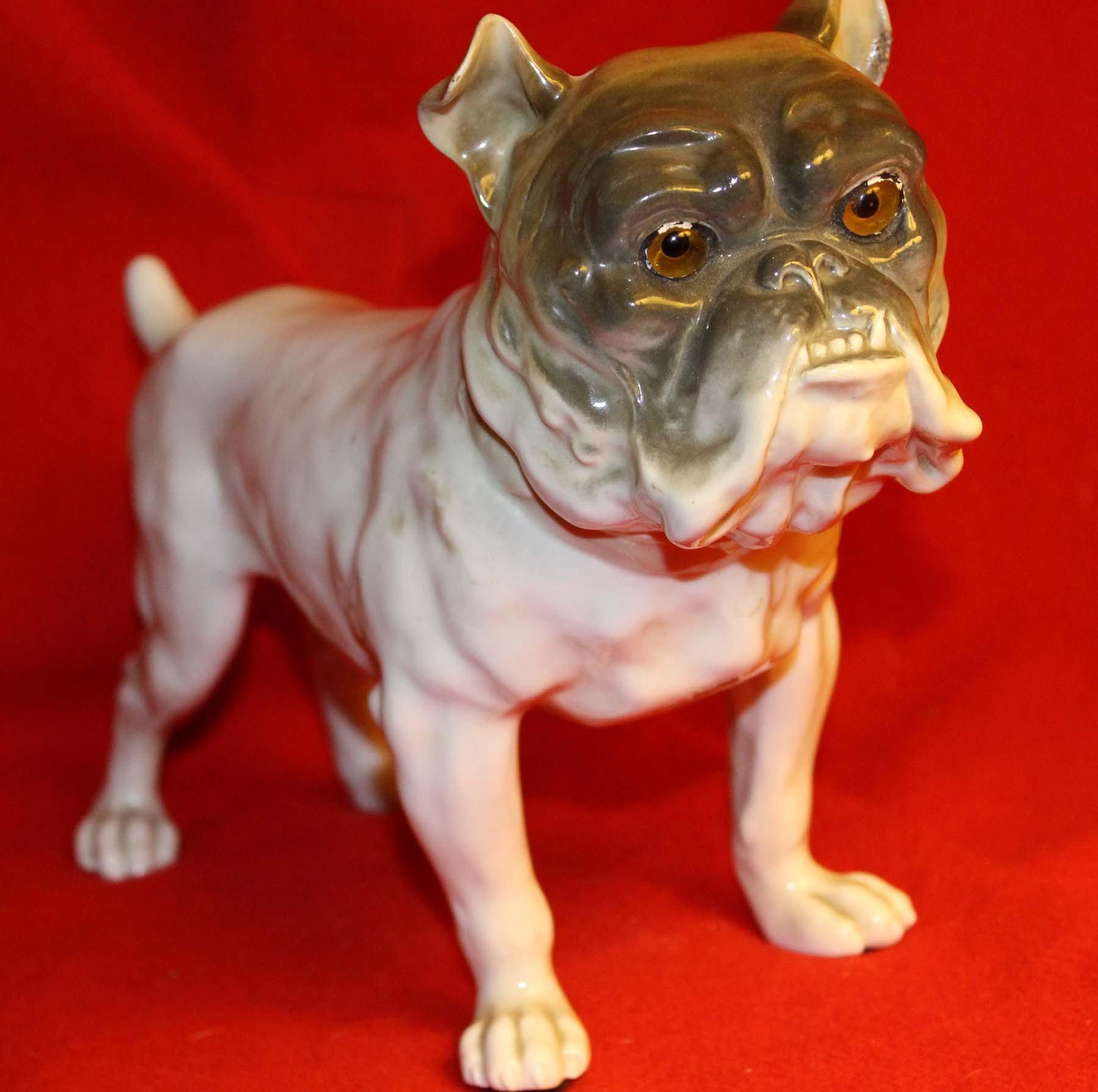 galerie-bosetti-antiquites veilleuse bull dog face
