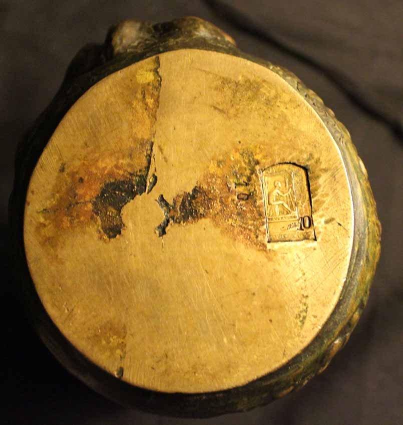 galerie-bosetti-antiquites bronze GOLDSCHEIDER marque verso