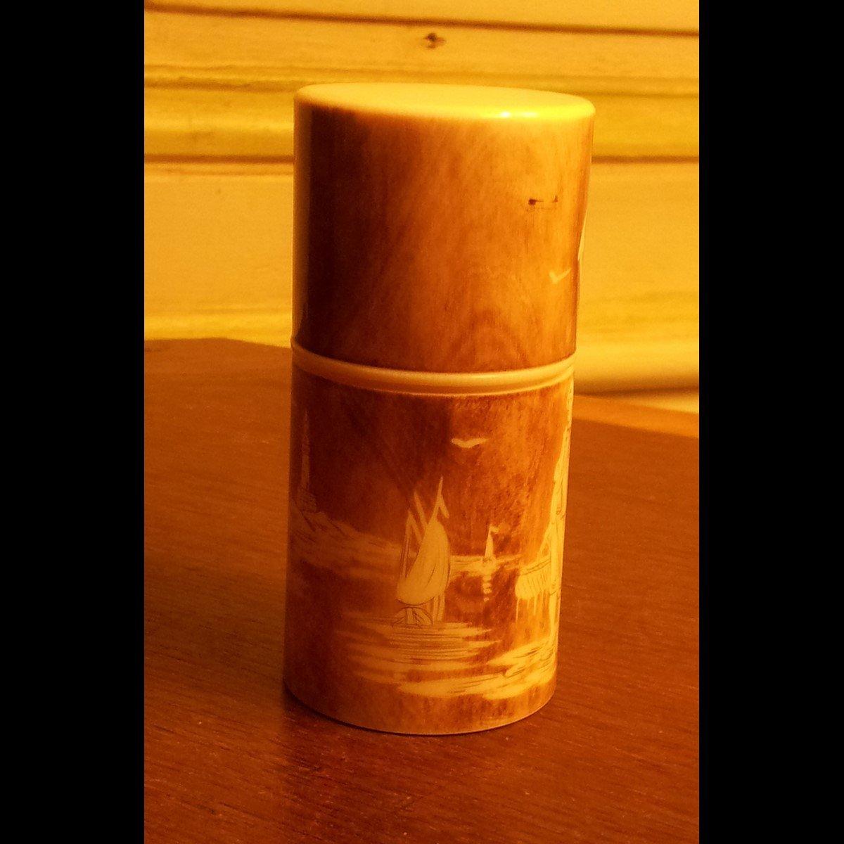 Bosetti-Antiquités coffret à sels verrerie 4