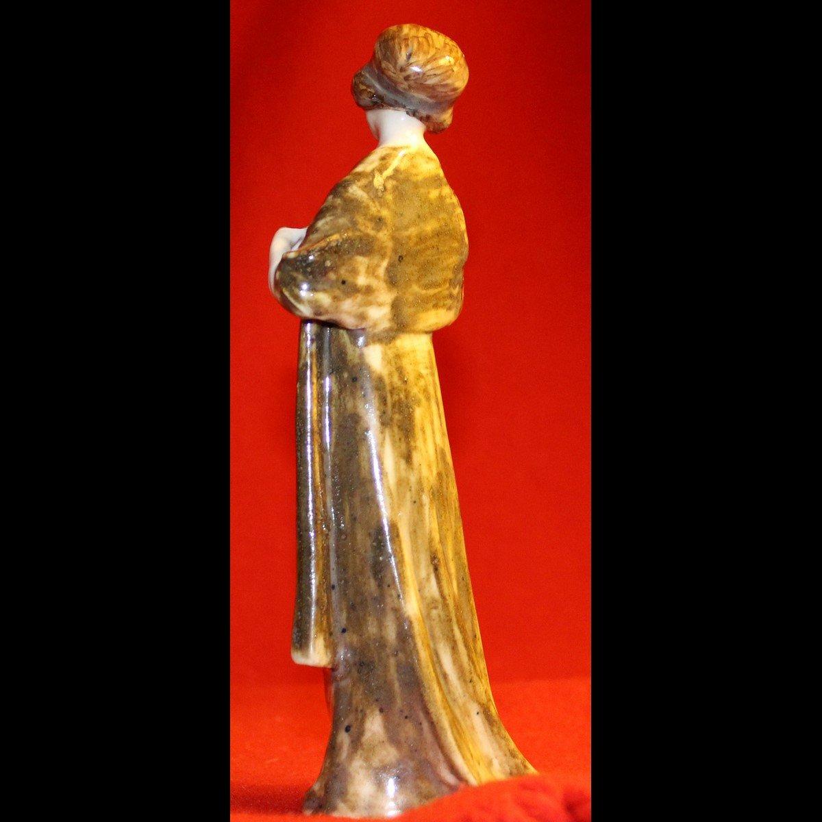 galerie-bosetti-antiquites,art nouveau femme, profil gauche
