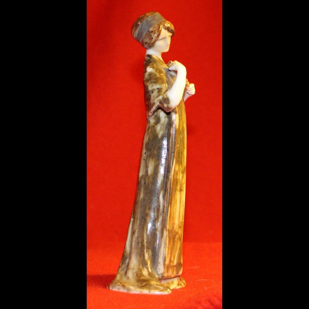galerie-bosetti-antiquites,art nouveau femme, profil droit