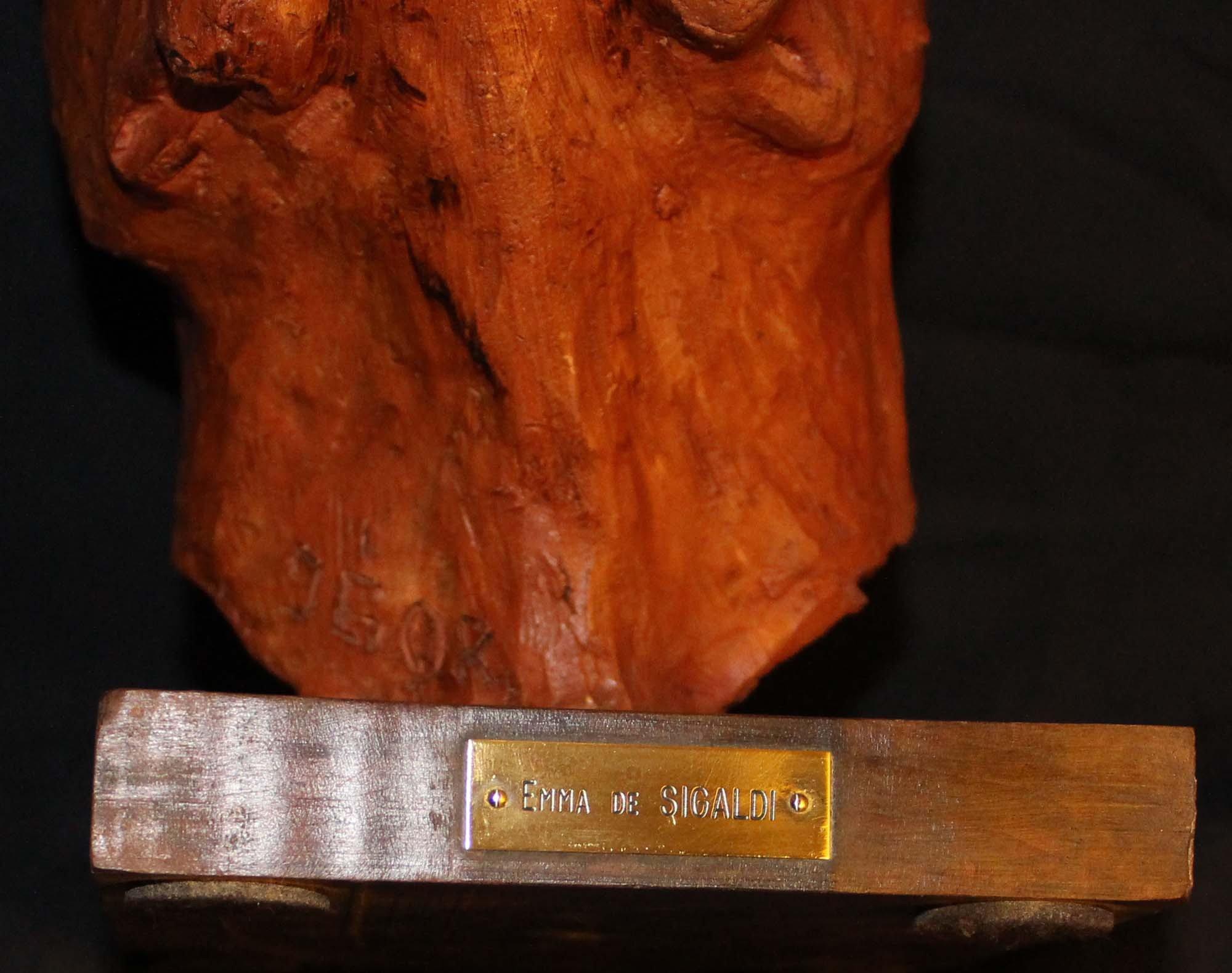 galerie-bosetti-antiquites terre cuite boxer De SIGALDI, marque
