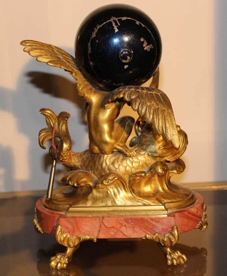 galerie-bosetti-antiquites pendule, vue de dos