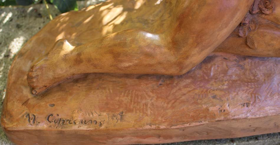 galerie-bosetti-antiquites, terre cuite, signature