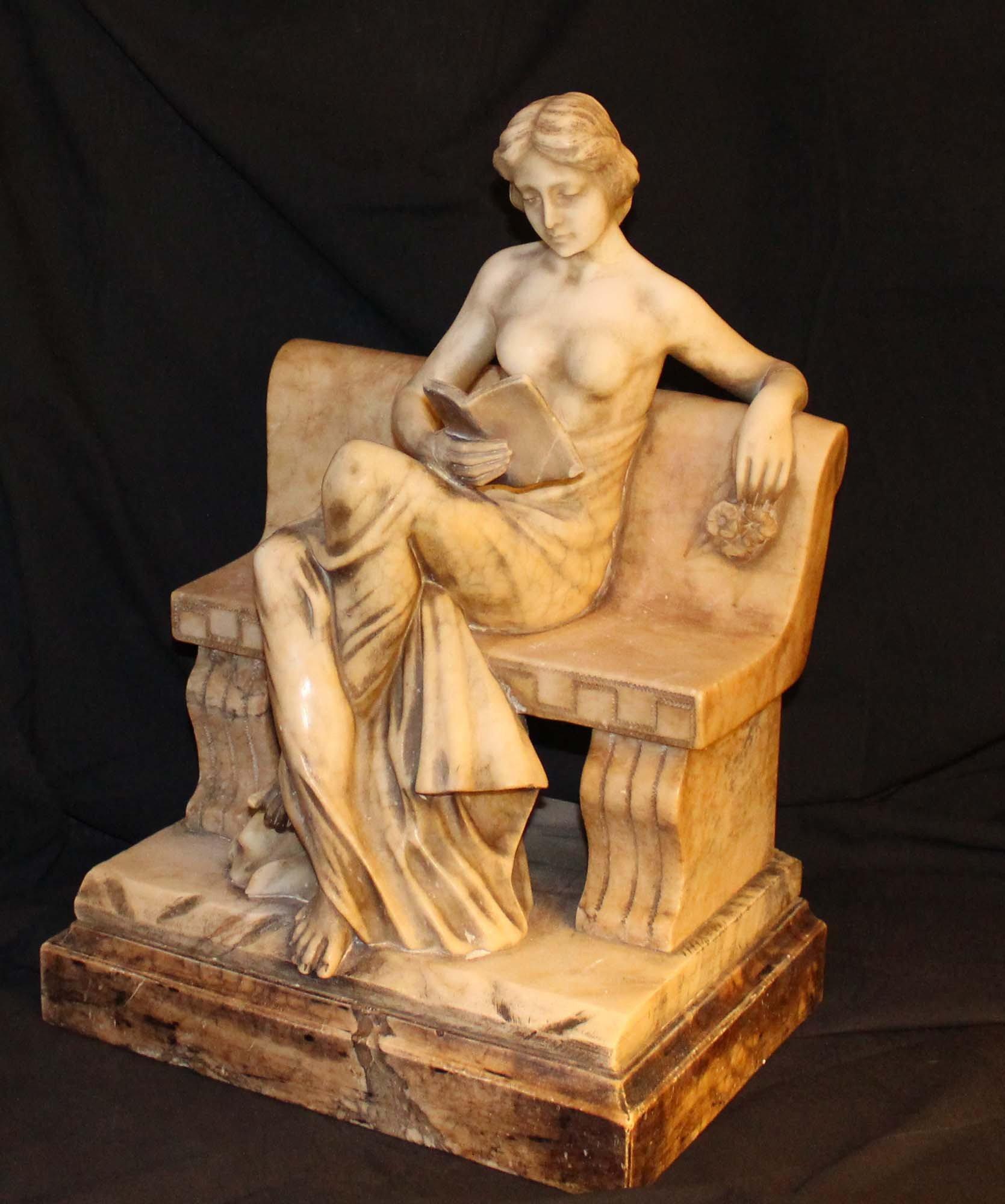 galerie-bosetti-antiquitessculpture marbre profil gauche