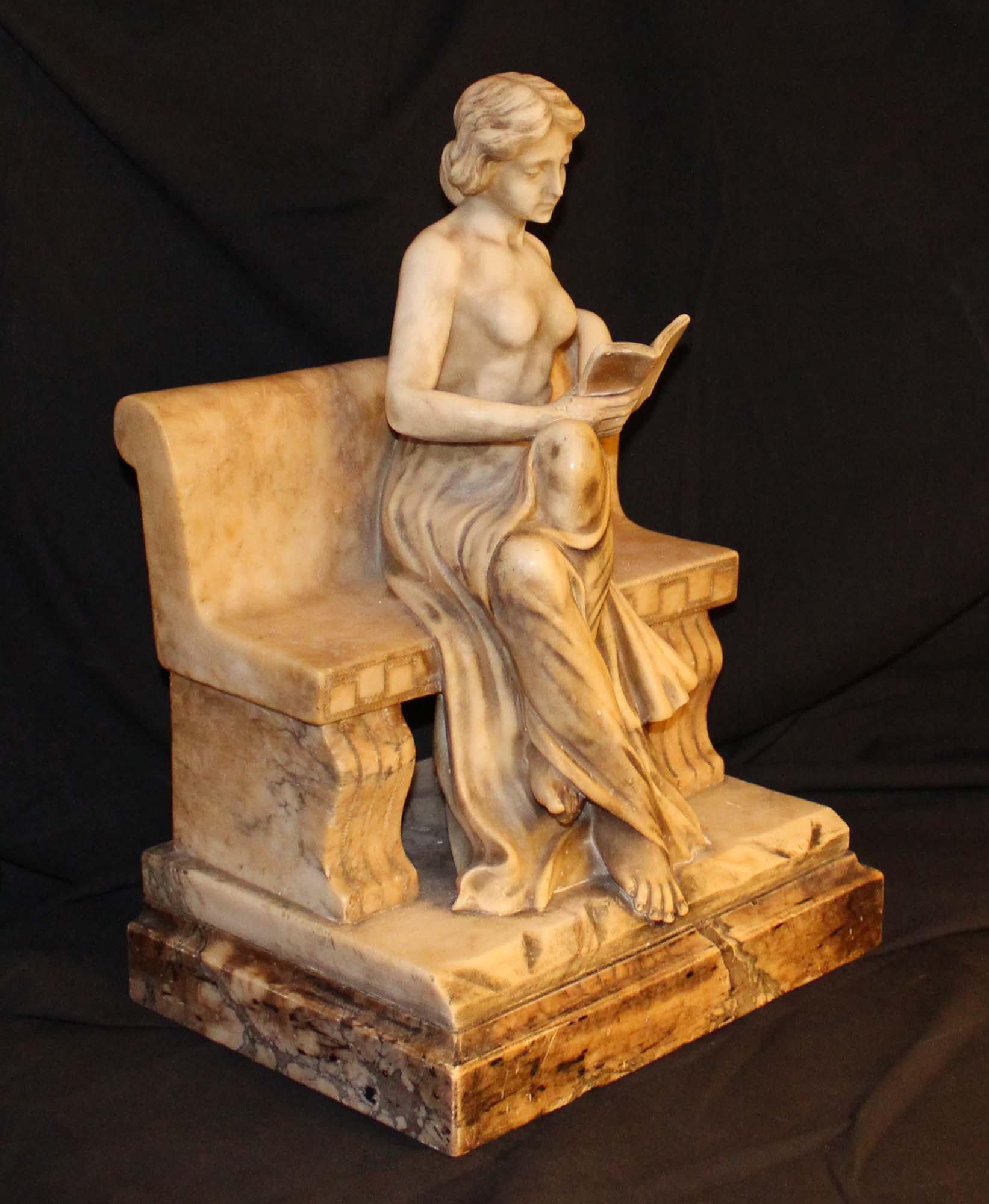 galerie-bosetti-antiquites sculpture marbre profil droit