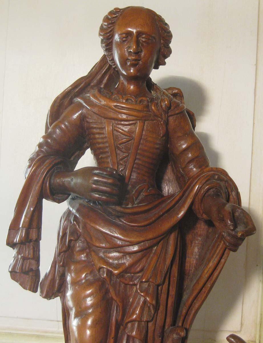 galerie-bosetti-antiquites, sculpture Ste Marthe, partie haute