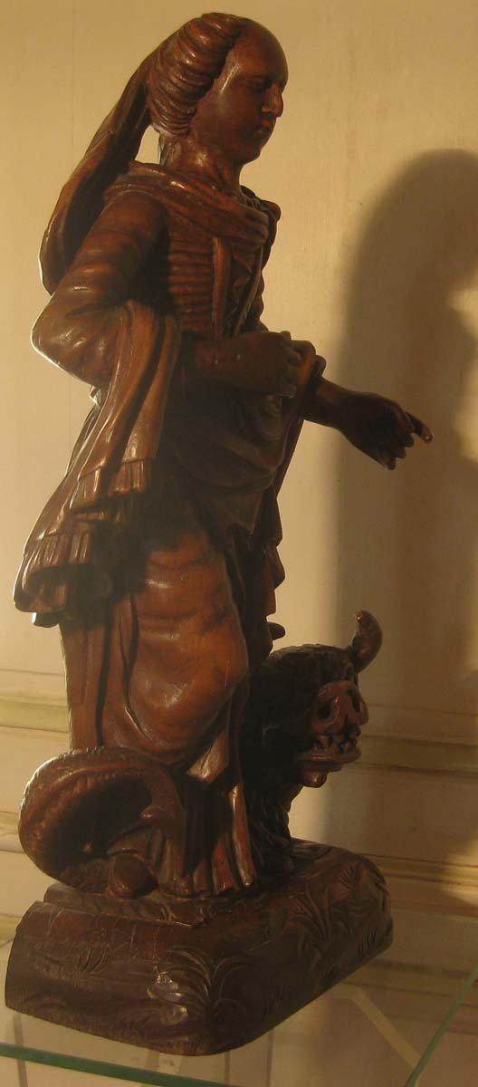 galerie-bosetti-antiquites, sculpture Ste Marthe, profil