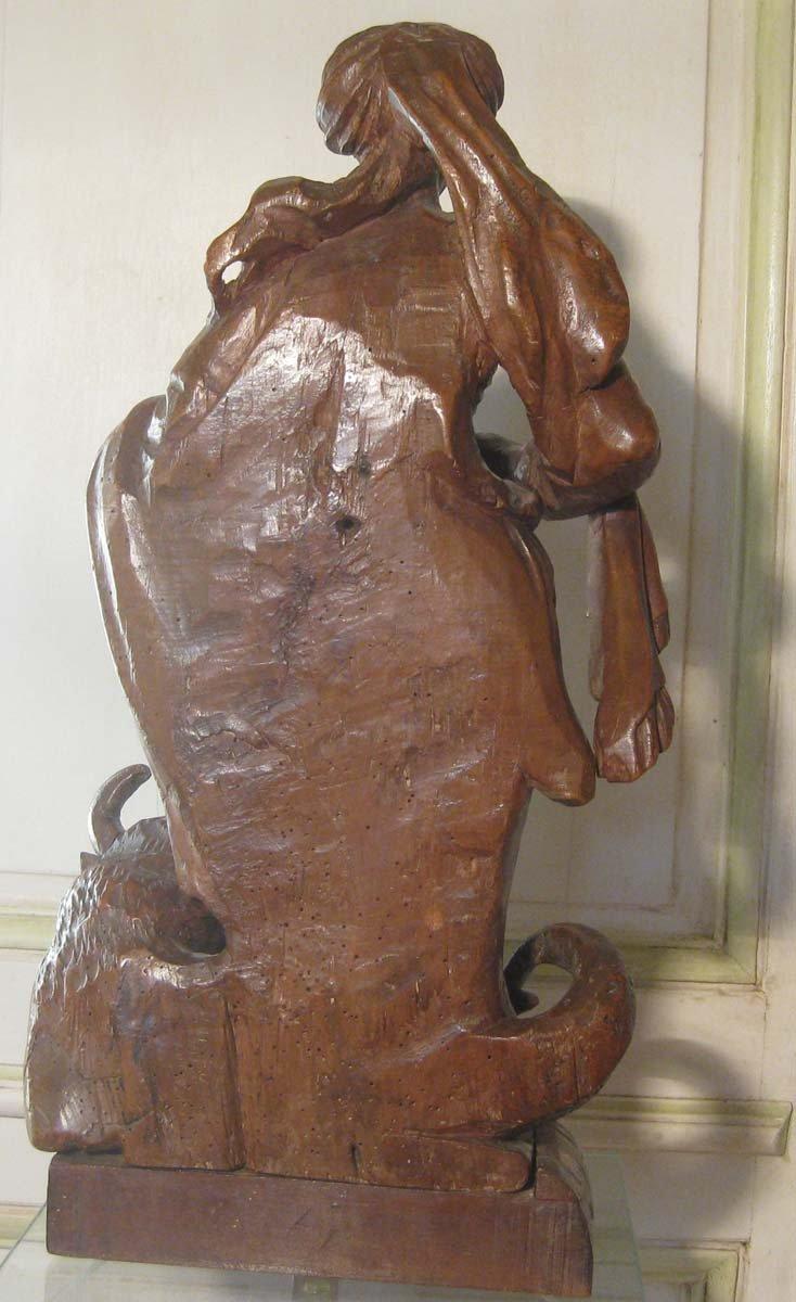galerie-bosetti-antiquites, sculpture Ste Marthe, dos